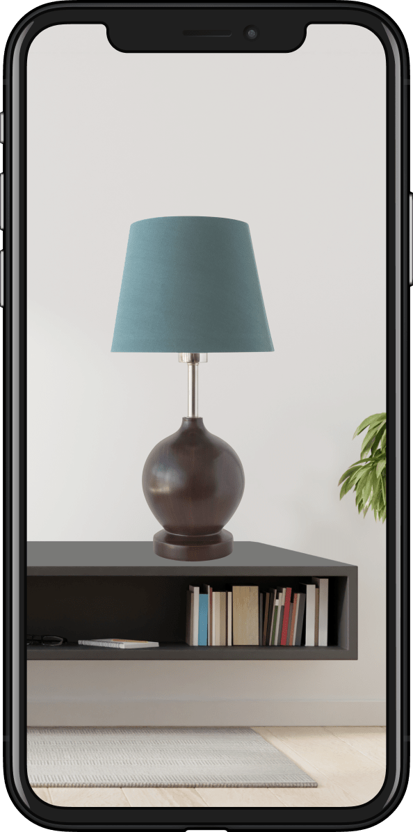 Image of a lamp in AR